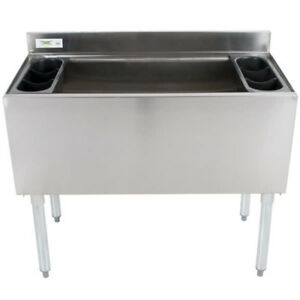 New Regency Underbar Stainless Steel Commercial Nsf 119lb Ice Bin 18 X 36 Bar