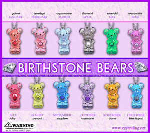 Vending Machine 0 50 0 75 Capsule Toys Birthstone Bear Keychains