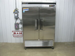 Turbo Air Two 2 Door Stainless Commercial Reach In Refrigerator Cooler Tsr 49sd