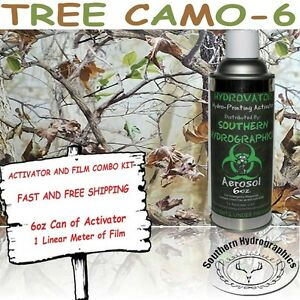 Hydrographic Film Water Transfer Hydro Dip 6oz Activator Tree Camo 6 Dip Kit