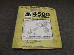 Ag chem Big A 4500 Sludge Applicator Floater Parts Catalog Manual Original Rare