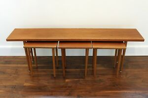 Vintage Danish Modern Teak Nesting Tables By Kurt Ostervig For Jason Mobler