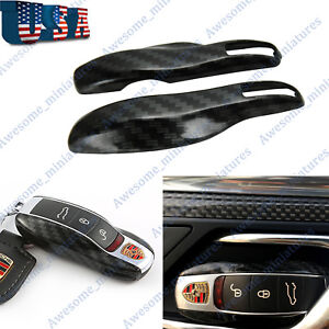 Carbon Fiber Remote Smart Key Shell Cover For Porsche Cayenne Panamera Macan 911