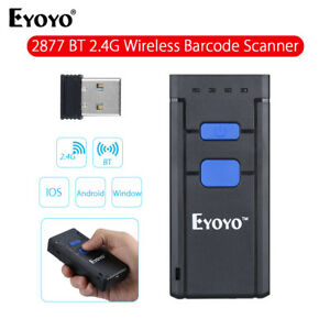 Portable Mini Laser Barcode Scanner Wireless Bluetooth For Ios Android Windows