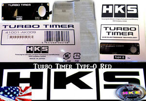 Hks Turbo Timer Black Type 0 Zero Red Lcd Fits For Subaru Mitsubishi Evo Wrx Sti
