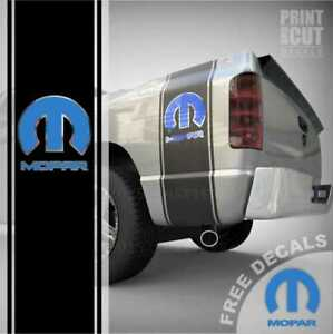 Dodge Ram 1500 2500 Mopar Truck Bed Box Stripe Decal Racing Sticker Graphic 02ch
