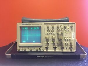 Tektronix 2465 300 Mhz 4 Ch Analog Oscilloscope Pouch Manual Tested