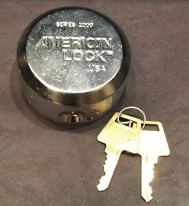 American Lock A2000ka Series 2000 Round Solid Steel Shackleless Security Padlock