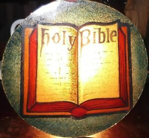 Antique Holy Bible Stained Glass Window Jesus Christian Collector Plate Church