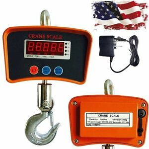 500kg 1100 Lbs Digital Hanging Crane Heavy Duty Postal Scale Industrial Shipping