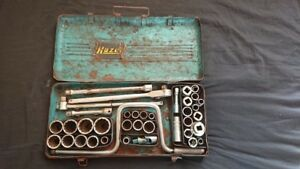 Vintage Hazet 1 2 Ratchet Socket Set Volkswagen Porsche Workshop Tool Box