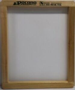 6 New Wood Pocono Screen Printing Frames 20x24 Extreme Tenision Mesh 110