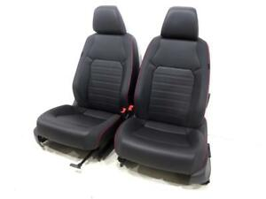 Vw Jetta Gli Oem V Tex Leatherette Black Red Seats 2011 2012 2013 2014 2015