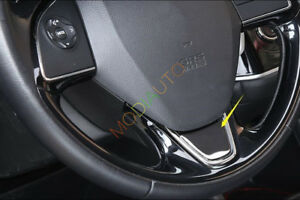 For Mitsubishi Outlander 2013 2017 Stainless Steel Steering Wheel Cover Trim