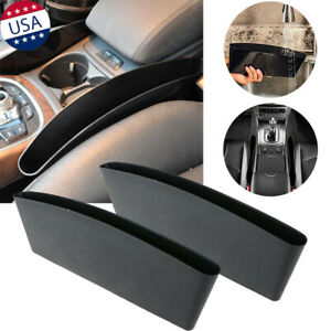 2x Abs Car Seat Seam Storage Organizer Phone Accessory Coins Cables Bag Holders