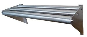 Commercial Stainless Steel Tubular Wall Shelf 18 X 30