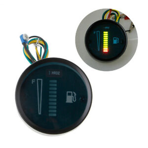 2 12v Green Universal Car Motorcycle Fuel Level Meter Gauge 8 Led Light Display