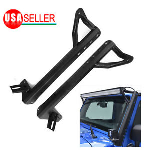 For Jeep Wrangler Jk 07 18 Led Work Light Bar Mount Bracket Offroad