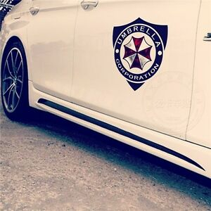 Resident Evil Zombie Umbrella Corporation Car Door Stickers Decal 3m Reflective