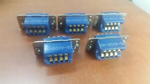 Lot Of 5 New Amphenol Blue P n 26 4200 8s Rack And Panel Connector Socket