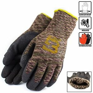 Better Grip Military Brown Insulated Winter Rubber coated Gloves bgwlac mt
