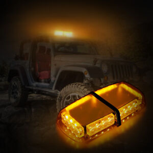 Amber 24led Light Bar Car Truck Emergency Warning Flashing Strobe Beacon Light
