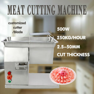 110v Meat Slicer Cutter Meat Cutting Machine With 2 Sets Of Blade 250kg Output