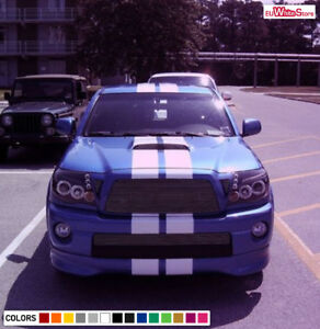 Decal Sticker Front To Back Stripe Kit For Toyota Tacoma Bed Storage Rack Camper