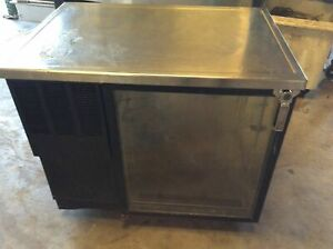 Glastender Lp36 gs l Single Door Low Profile Back Bar Cooler Self contained