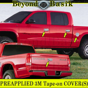 For 2000 2004 Dodge Dakota Chrome Door Handle Covers 1 Keyhole tailgate gas Cap