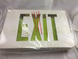 Lot 6 12 25 X 8 25 Led Exit Signs Signage New