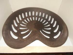 Large Antique Cast Iron Tractor Seat Ornate Farm Barn Rustic Decor