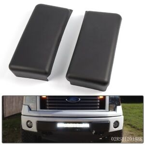 Front Bumper Guards Pads Caps Inserts Lh Rh Set For 09 14 Ford F150