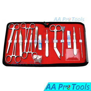 18 Pcs Minor Surgery Set Surgical Instruments Kit Stainless Steel