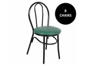 8 pack Green Hairpin Restaurant Cafe Chairs With 1 1 4 Padded Seat