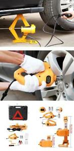 Electric Jack Car 12v Scissor Battery Power And Impact Wrench Wheel C