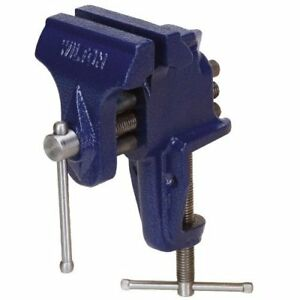 Wilton 33150 Bench Vise With Clamp on Base 3 Jaw Width 2 1 2 Maximum Jaw Ope