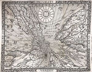 1640 Franz Ritter Map Of The World Projected From The North Pole Sundial Map