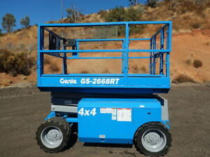 2008 Genie Gs2668rt Scissor Lift Dual Fuel 4x4 Foam Filled Tires
