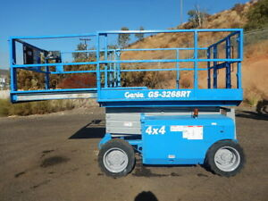 2007 Genie Gs3268rt Scissor Life Dual Fuel 4x4 Foam Filled Tires