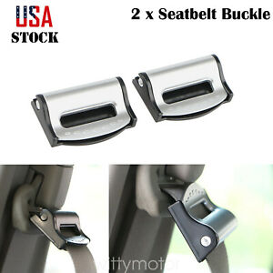 2x Car Seat Belt Clip Locking Stopper Shoulder Comfort Safe Clamp Strap Adjuster