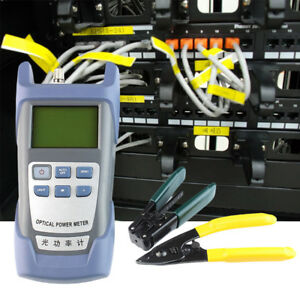 Fiber Optic Ftth Tool Kit With Fc 6s Fiber Cleaver Optical Power Meter 5km