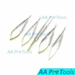 5 T c Castroviejo Micro Scissors Needle Holder Str Cvd Forceps Ophthalmic Tools