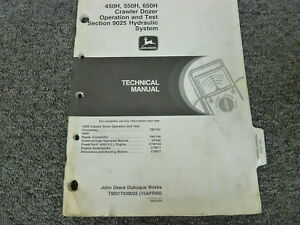 John Deere 450h 550h 650h Crawler Dozer Hydraulic Service Repair Manual Tm1743