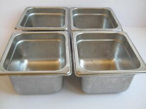 4 Pcs Abc Prestige Steam Table Hotel Pan 1 6 Size 4 Deep Stainless Steel Nsf