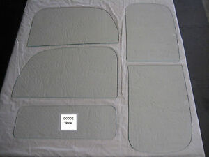 1941 1950 Dodge Power Wagon Glass Set Clear For Doors Without Vent Windows