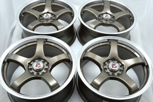 17 Bronze Wheels Rims Corolla Tc Mazda 3 5 6 Eclipse Avenger Civic 5x100 5x114 3