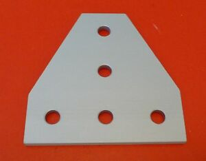 80 20 8020 Equivalent Aluminum 5 Hole Tee Joining Plate 15 Series P n 4340 New