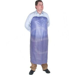 10 Pack Lightweight Vinyl Aprons 45 X 36 Blue