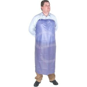 20 Pack Lightweight Vinyl Aprons 45 X 36 Blue